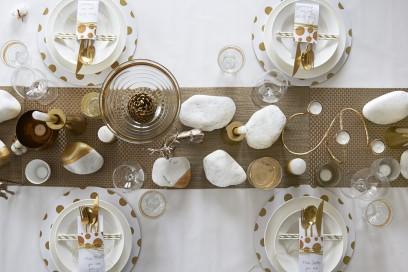 La tavolo oro del Natale luxury