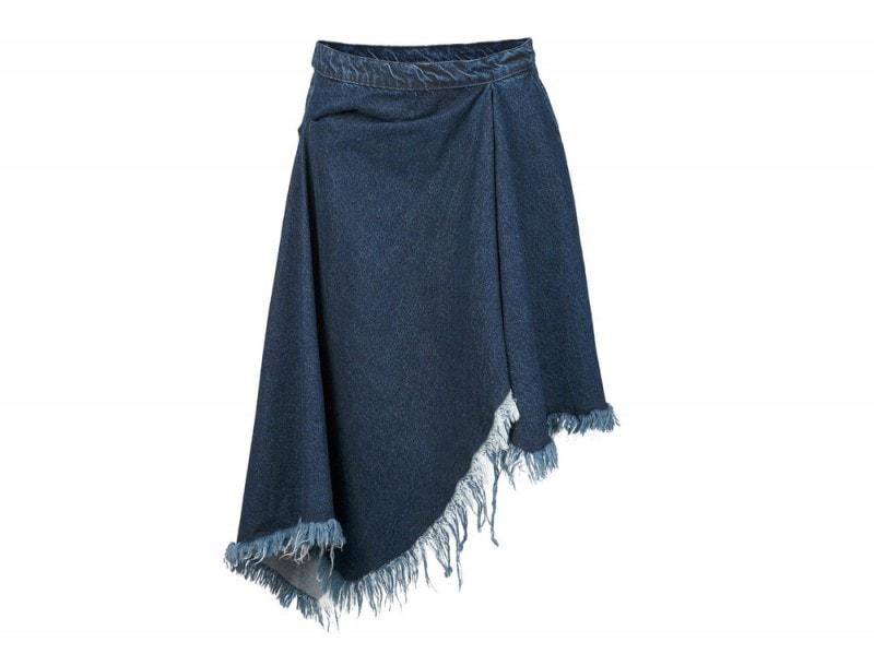 MARQUES-ALMEIDA–asymmetric-frayed-denim-skirt