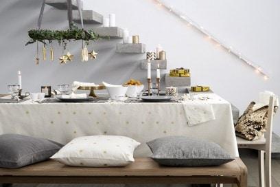 Natale bianco e oro con H&M Home