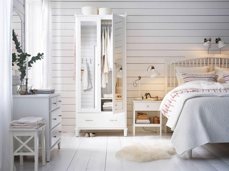 Toni avvolgenti in camera da leto, Ikea