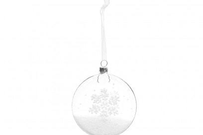 Un fiocco di neve dentro la pallina