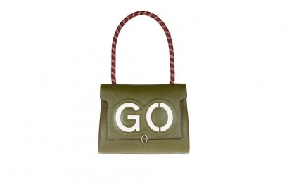 borsa verde scritta anya hindmarch