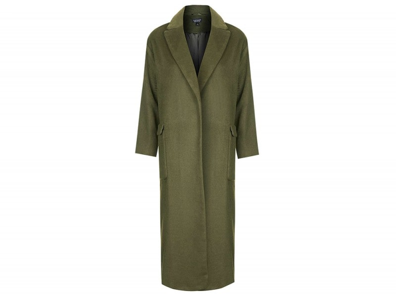 cappotto verde lungo topshoop