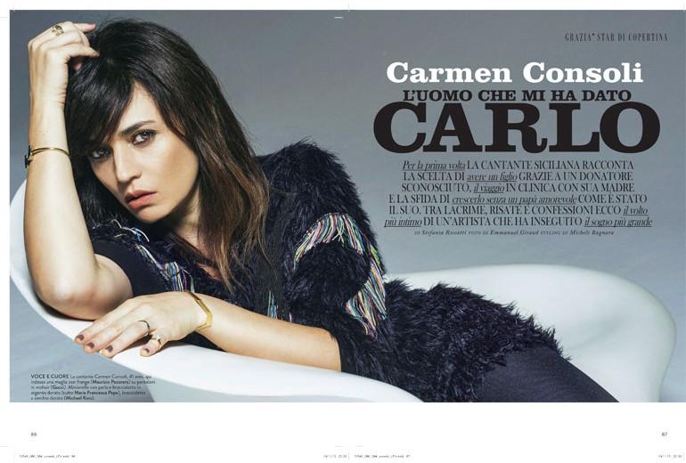 Carmen Consoli: «L'uomo che mi ha dato Carlo»