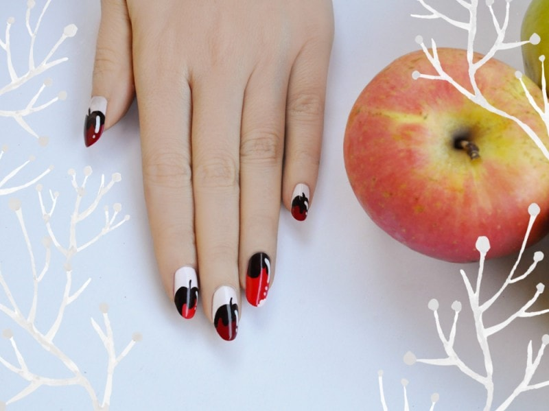 chocolate-dipped-apples-nailart