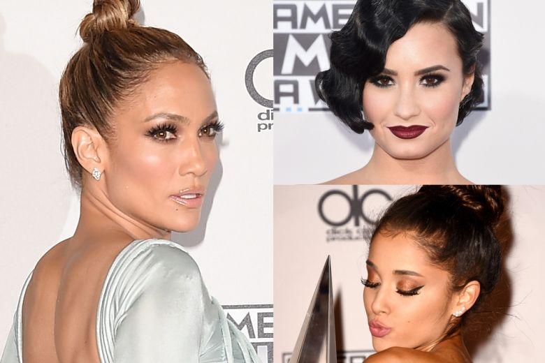 American Music Awards 2015: i make up e le acconciature più belle