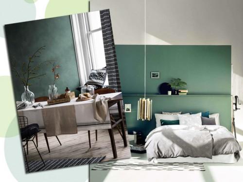 Camera Da Letto Verde Smeraldo : Arredare con il verde grazia