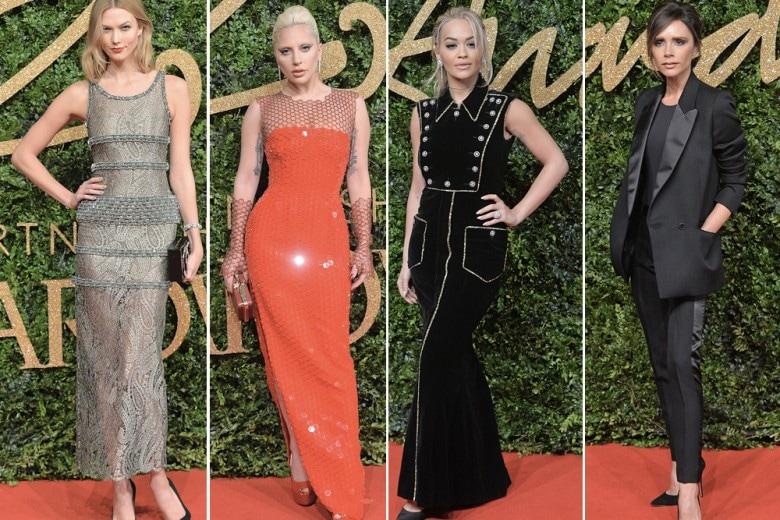 Il red carpet dei British Fashion Awards 2015