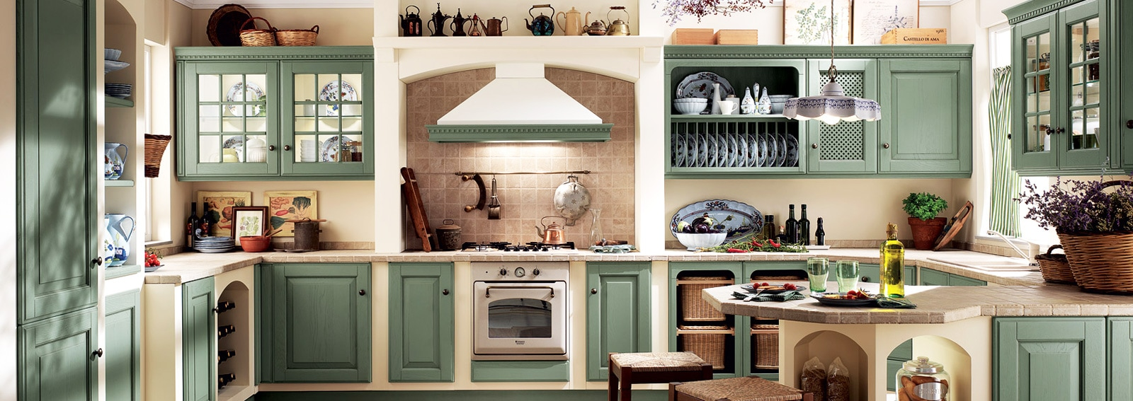 cucine in muratura: classiche, rustiche e country - grazia.it - Cucine Country In Muratura
