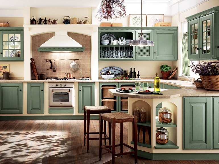 Piccole cucine in muratura angolo cottura con cucina in - Aurora cucine outlet ...