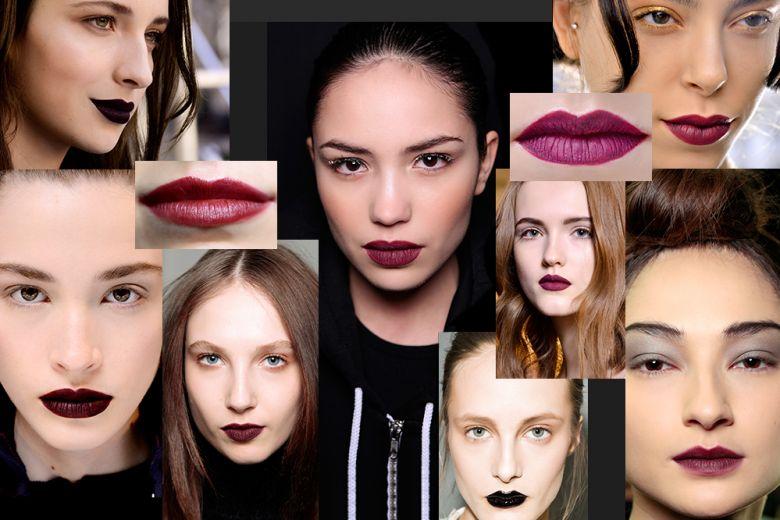 Trucco labbra con rossetto scuro: i colori di tendenza del momento