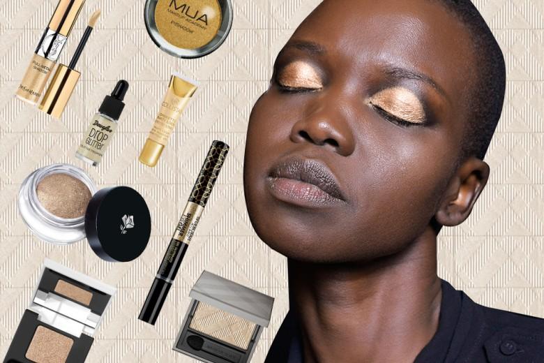 10 ombretti oro per illuminare il make up delle feste