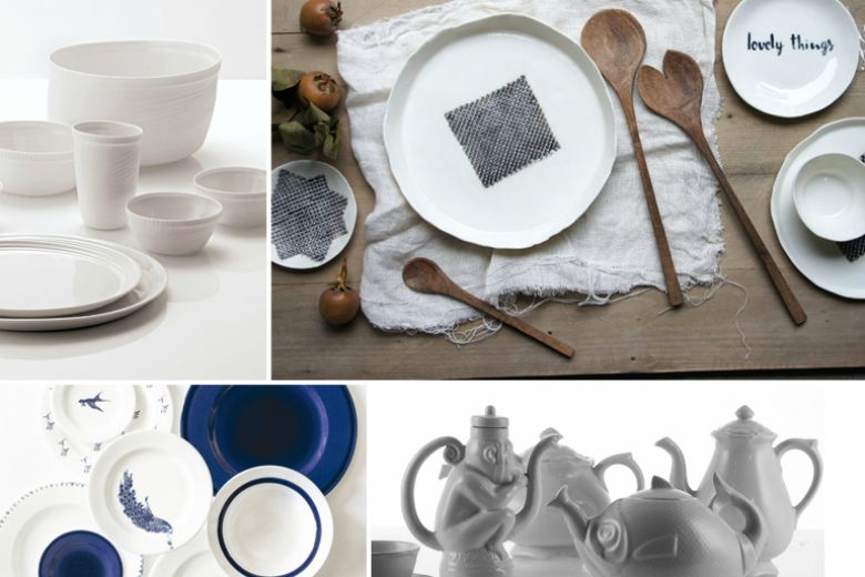 Total white: le ceramiche bianche essenziali per la tavola