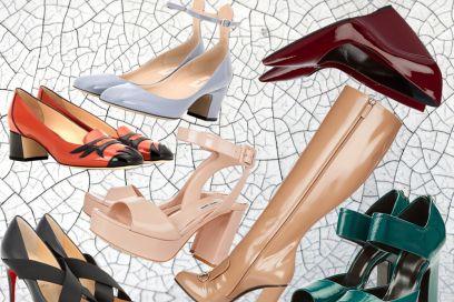 Le scarpe in vernice per l'inverno 2015