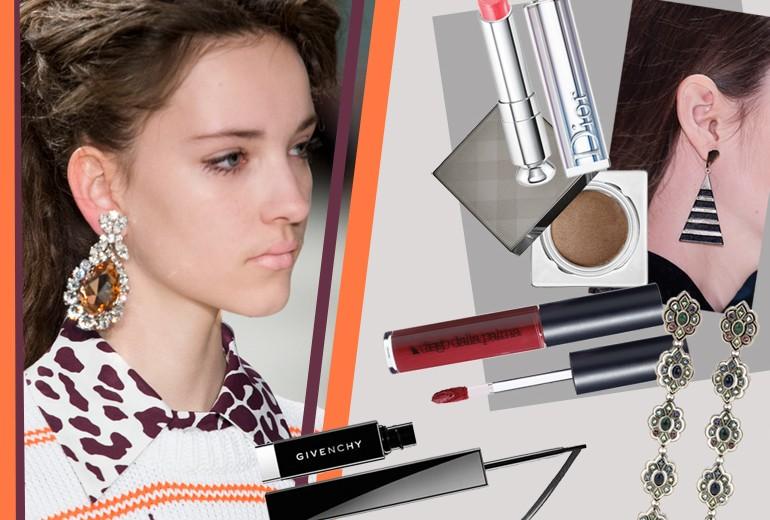 Orecchini e make up: gli abbinamenti più scintillati