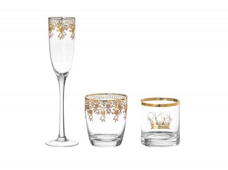 Bicchieri con decoro in oro Coin Casa