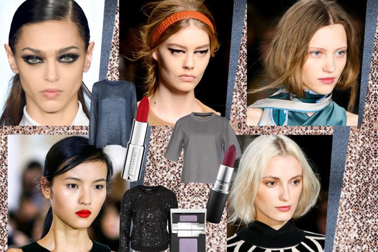 Maglie glitter e make up: gli abbinamenti più glam