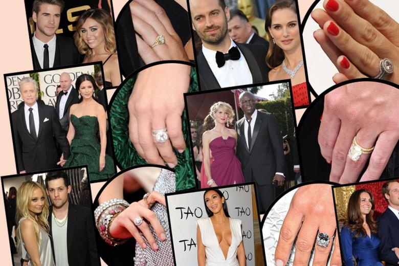 Gli anelli di fidanzamento più grandi indossati dalle star