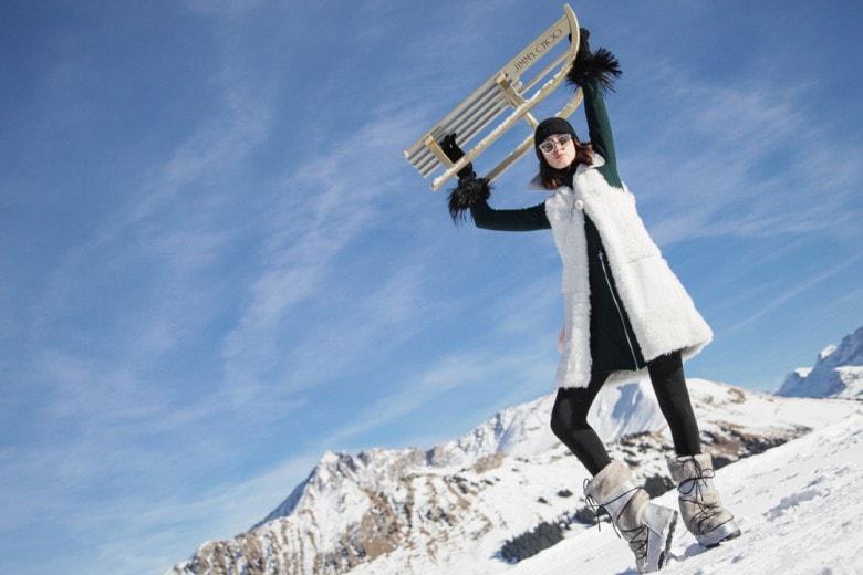 Sulle nevi della Svizzera con Jimmy Choo