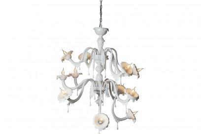 Il lampadario «Au Revoir» di Matteo Ugolini per Karman