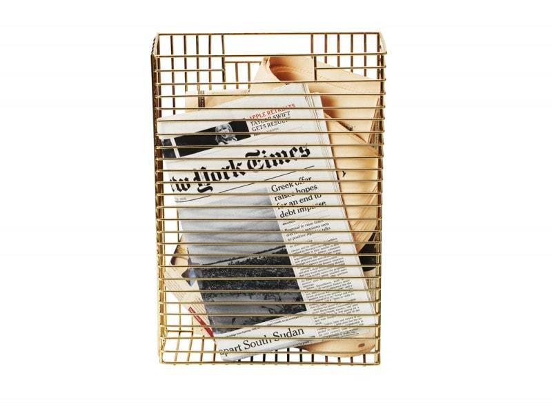 Il porta riviste in oro