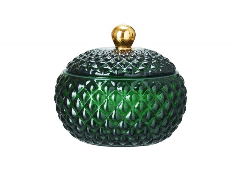 Il portagioie in vetro smeraldo