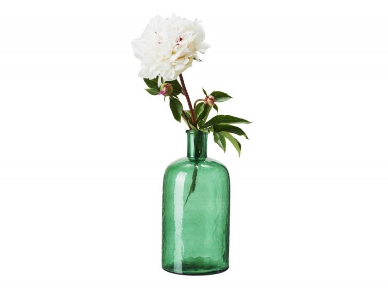 Il vaso in vetro verde