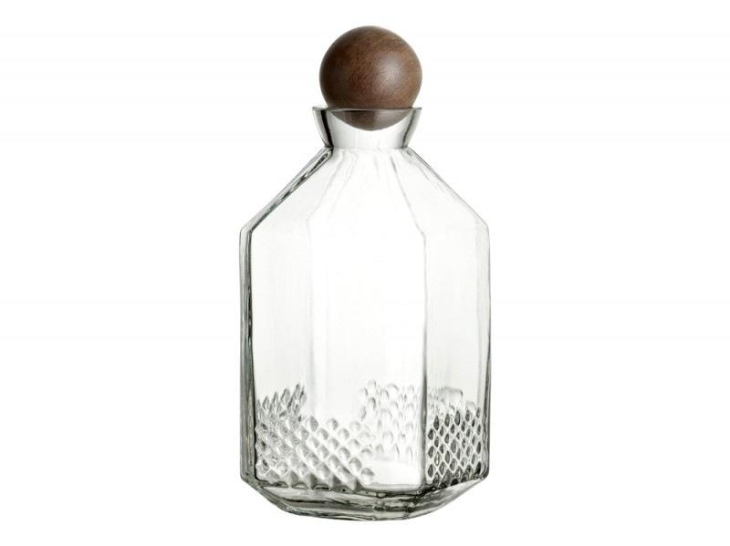 Tappo sferico in legno per la bottiglia in vetro lavorato