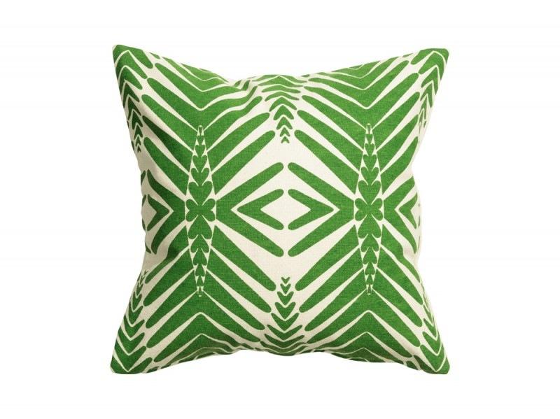 Verde etnico sul cuscino