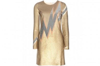 abito corto metallizzato emilio pucci