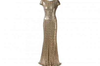 abito lungo oro badgley mischka