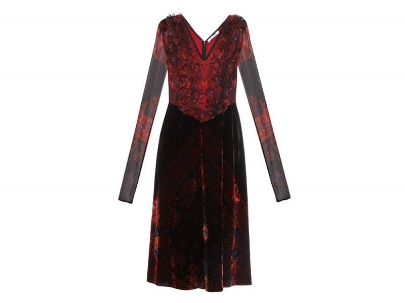abito velluto rosso givenchy