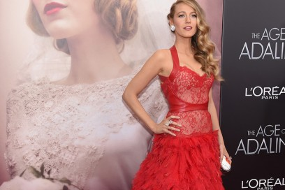 blake lively abito rosso