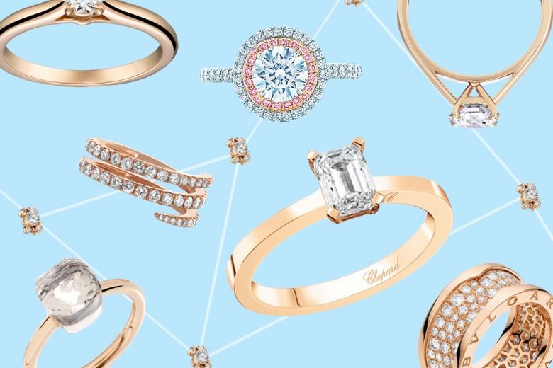 Gli anelli di fidanzamento in oro rosa