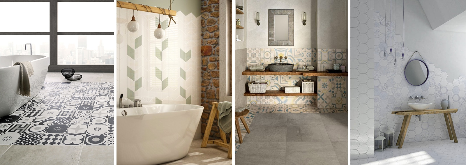 Piastrelle per il bagno come sceglierle e utilizzarle - Pannelli per coprire piastrelle bagno ...