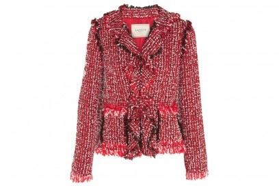 lanvin giacca tweed