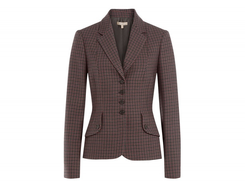 michael kors collection giacca plaid