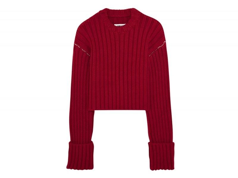 mm6 maison margiela maglione rosso