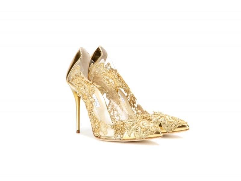 oscar-de-la-renta-scarpe-oro