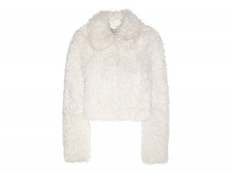 topshop unique pelliccia shearling