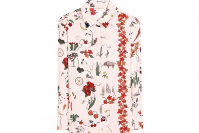 tory burch camicia stampa floreale
