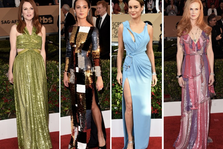 SAG Awards 2016: red carpet di paillettes e colore