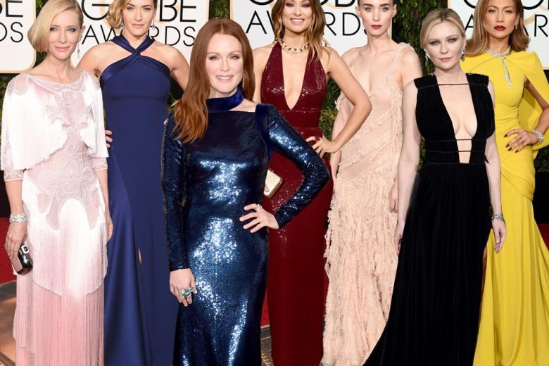 Tutti gli abiti delle star ai Golden Globes 2016