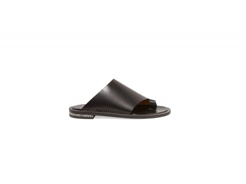 GIVENCHY-Rosamunda-chain-trimmed-sandals-in-black-leather_NET