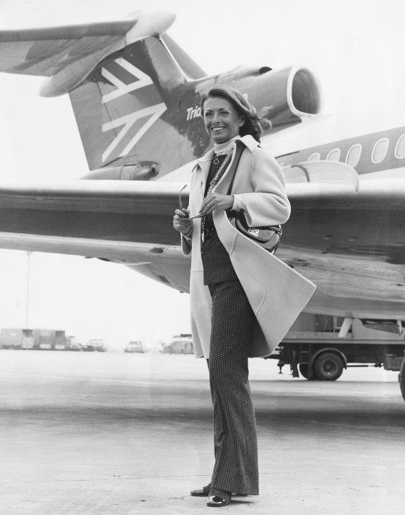 Irene Galitzine Heathrow Airport London 1972