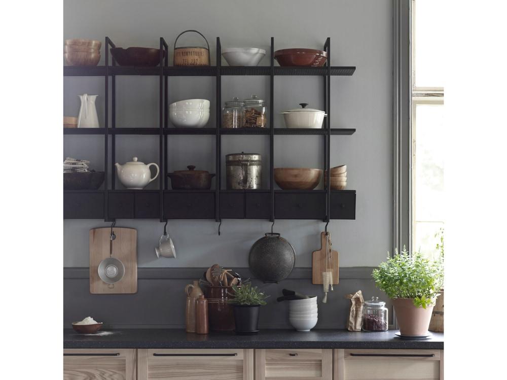 Lo scaffale da parete falsterbo foto - Scaffale per cucina ...