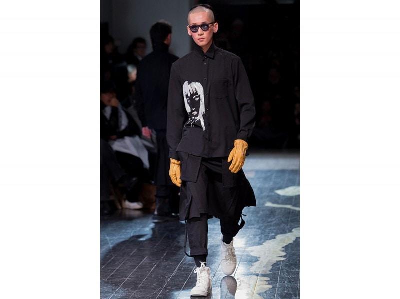 Yohji Yamamoto camicia stampata