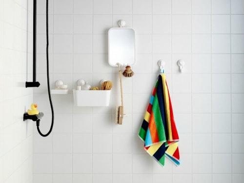 accessori a ventosa per doccia