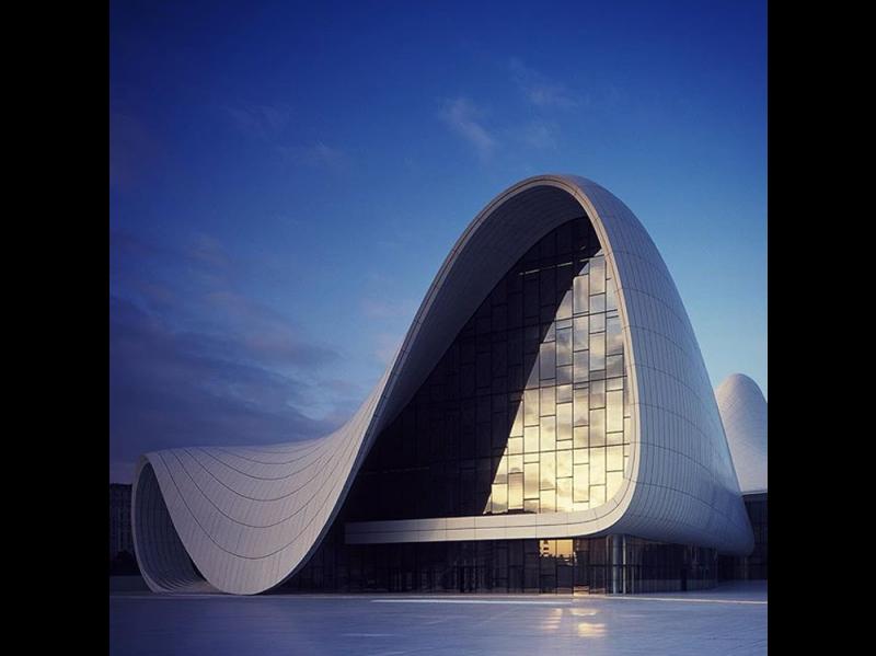 @architecture_hunter: Heydar Aliyev Centre by Zaha Hadid