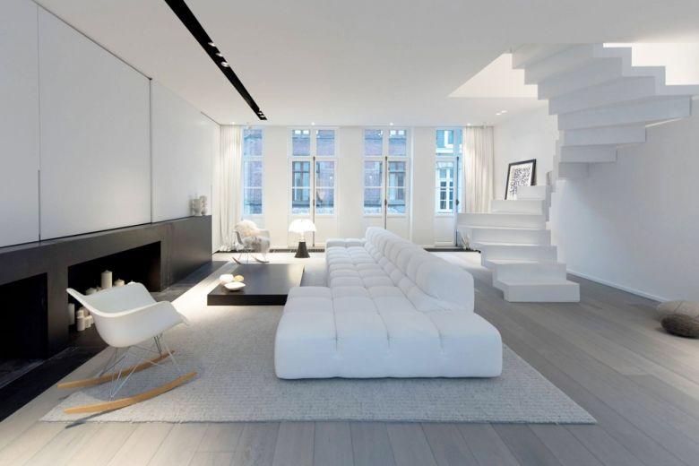 Com'è la casa ideale in total white